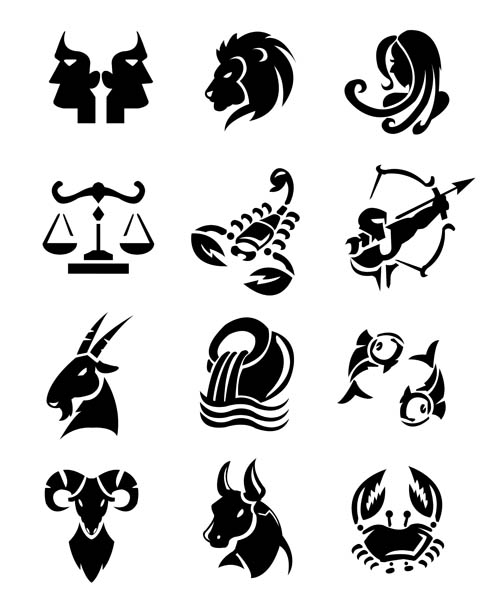 Free EPS file Different Signs of the zodiac design vector 01 download