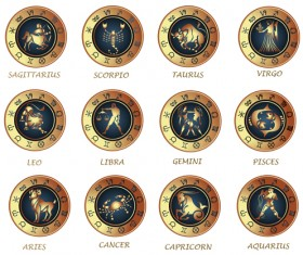 Different Signs of the zodiac design vector 05