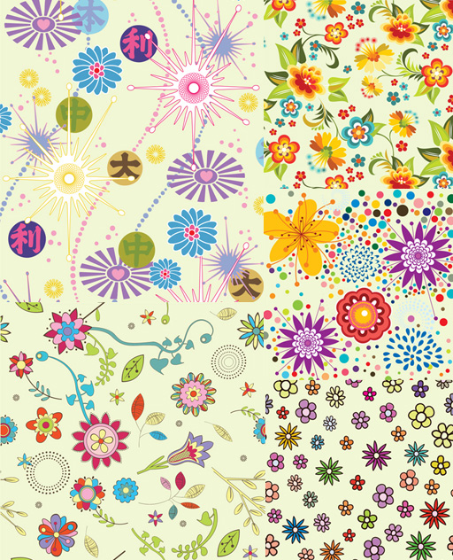 Lovely flowers backgrounds vector graphic free download