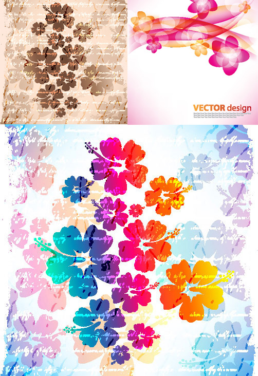 Flower background vector graphics
