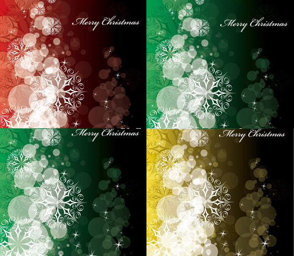 Snowflakes spotted background Vector