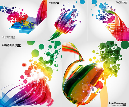 Dynamic light background design vector