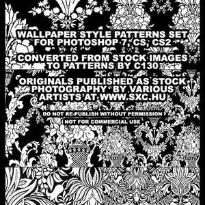 Wallpaper Style Patterns Set