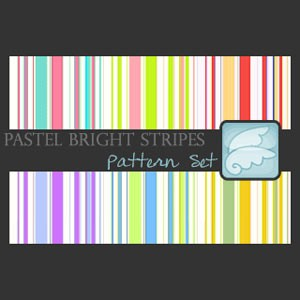 Pastel Bright Stripes Pattern