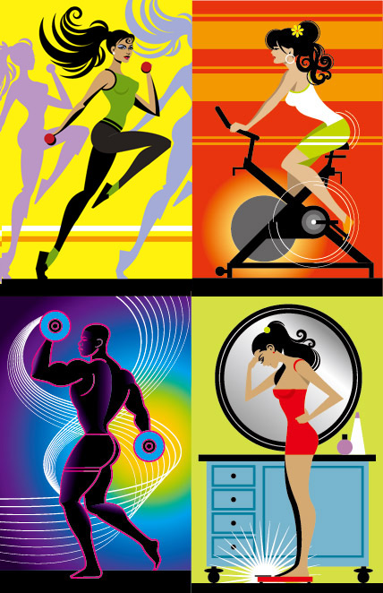 Fitness Series illustrator Vector
