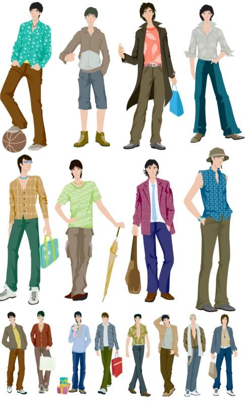 Fashion boys Vector