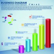 Link to3d infographic and diagram vector set 05