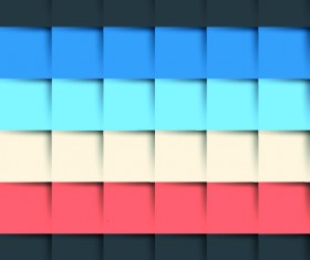 3D shapes background 01