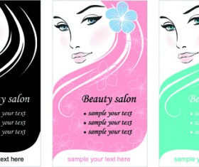 Woman with Beauty Salon vector 01