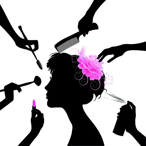 Woman With Beauty Salon Vector 03 Free Download