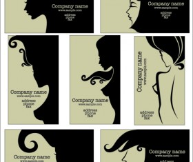 Woman with Beauty Salon vector 04