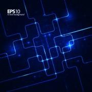 Link toShiny blue technology style backgorund 03