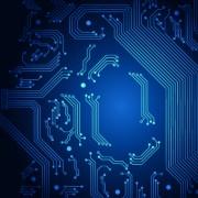 Link toShiny blue technology style backgorund 05