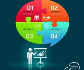 Concept Business infographics vector 01