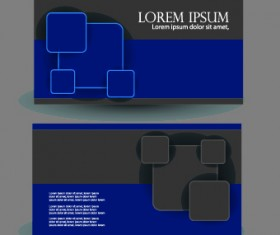 Blue Style Business cards design vector 01
