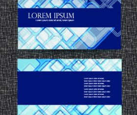 Blue Style Business cards design vector 03