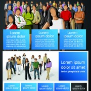 Link toBusiness people vector template set 02