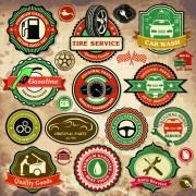 Link toDifferent car service labels vector 01
