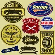 Link toDifferent car service labels vector 02