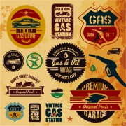 Link toDifferent car service labels vector 03
