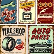 Link toDifferent car service labels vector 04