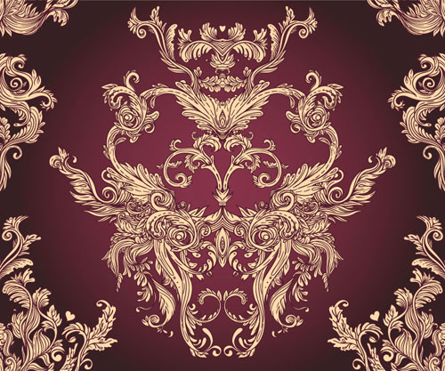 Classic floral Pattern vector 03