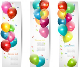 Colored Balloons Banners set 01