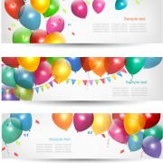 Link toColored balloons banners set 02