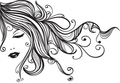 Vector fashion girls design elements 05 over millions for 5 elements salon albuquerque