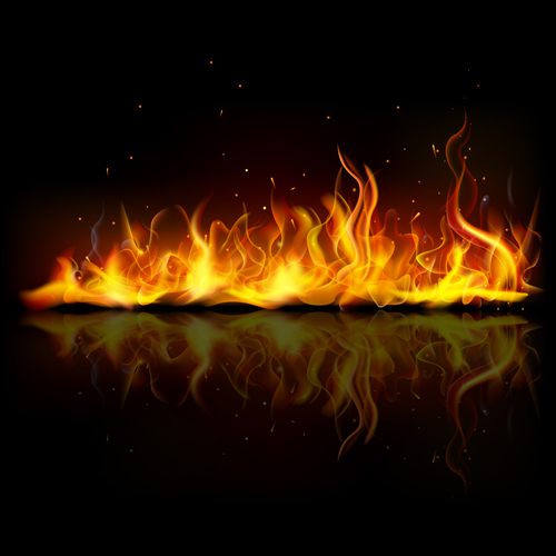 Vector Fire Backgrounds 02 - Vector Background free download