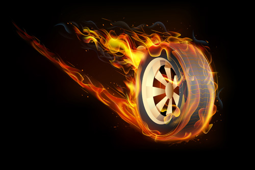 Creative Fire elements vector 03