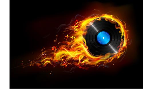 Creative fire elements vector 04