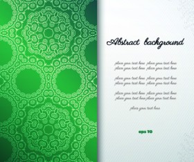 Floral background with you text vector 01