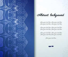 Floral background with you text vector 02