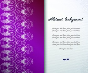 Floral background with you text vector 03