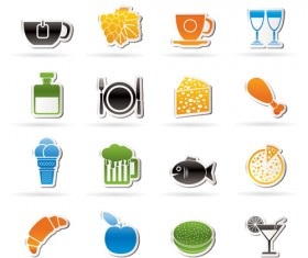 Elements of Food icons set 03