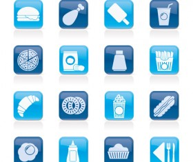 Elements of Food icons set 04