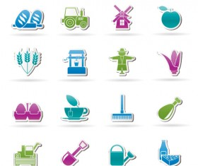 Elements of Food icons set 05
