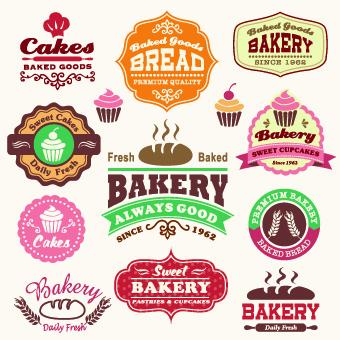 Vintage Food logo with labels vector 02 - Vector Food, Vector Logo ...