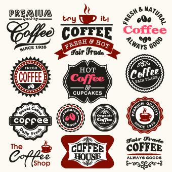 vintage food logo with labels vector 03 free download
