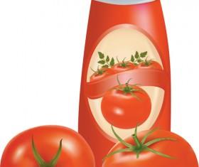 Vector Food packaging elements 02