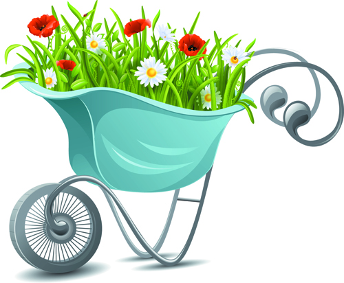 gardening tools vector 02 free download