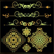 Link toGold calligraphic decor vector 06