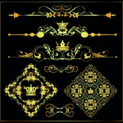 Link toGold calligraphic decor vector 07