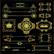 Link toGold calligraphic decor vector 02
