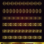 Link toGolden ornament borders and frame vector 05