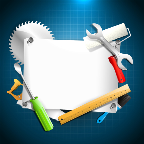 Hand Tools Vector Backgrounds 01