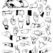 Link toDifferent hand gesture vector set 05