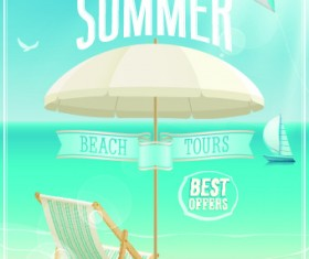 Happy summer design elements vector 01