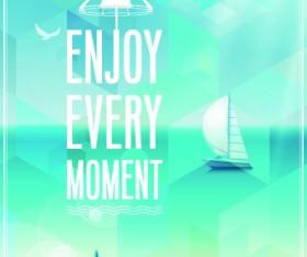 Happy summer design elements vector 02